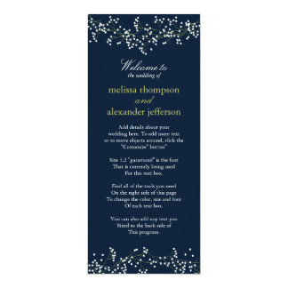 Het Programma van het Huwelijk van de Adem van de 10,2x23,5 Uitnodiging Kaart