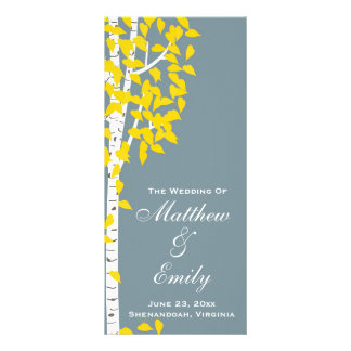 Het Programma van het Huwelijk van de Bomen van de 10,2x 22,9 Cm Reclamekaart