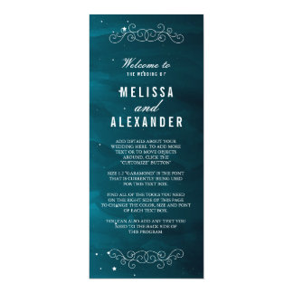 Het Programma van het Huwelijk van de dromer 10,2x23,5 Uitnodiging Kaart