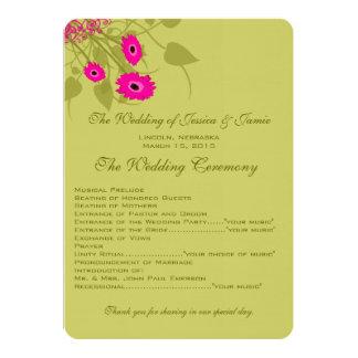Het Programma van het Huwelijk van Gerbers van de