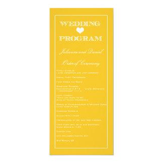 Het Programma van het Huwelijk van Grinstead van 10,2x23,5 Uitnodiging Kaart
