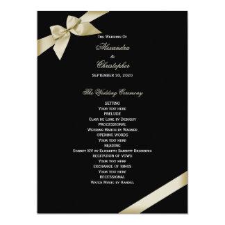 Het Programma van het Huwelijk van het Lint van de 16,5x22,2 Uitnodiging Kaart