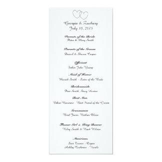 """Het Programma van het Huwelijk van """"met elkaar 10,2x23,5 Uitnodiging Kaart"""