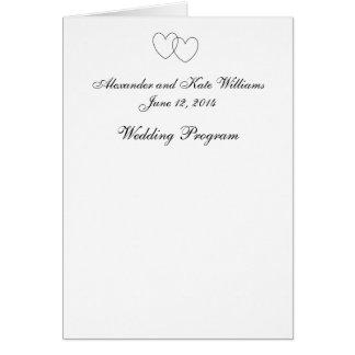 """Het Programma van het Huwelijk van """"met elkaar Wenskaart"""
