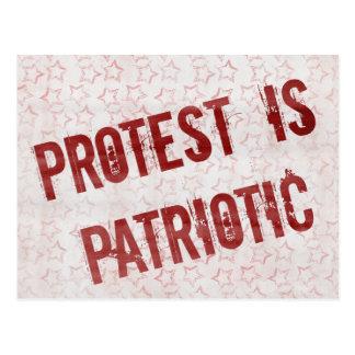 Het protest is Patriottisch Briefkaart