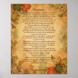 Het proza van wensen bij de Herfst kleurt Poster