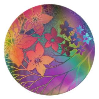 Het psychedelische Bord van Bloemen