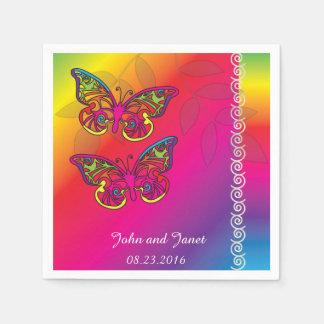 Het psychedelische Design van het Huwelijk van de Wegwerp Servetten
