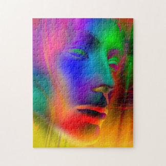 Het psychedelische Gezicht van de Vrouw Legpuzzel