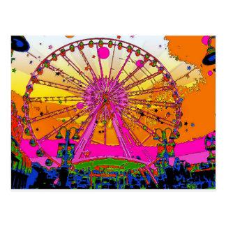 Het psychedelische Wiel van de Hemel Briefkaart