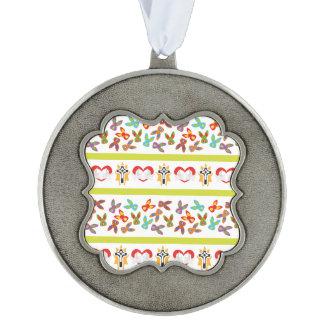 Het psycho kleurrijke Patroon van Pasen Geschulpt Ornament
