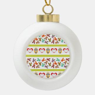 Het psycho kleurrijke Patroon van Pasen Keramische Bal Ornament