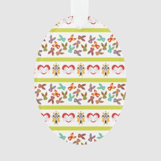 Het psycho kleurrijke Patroon van Pasen Ornament