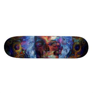 Het psychodelic art. van de schedel skateboard decks