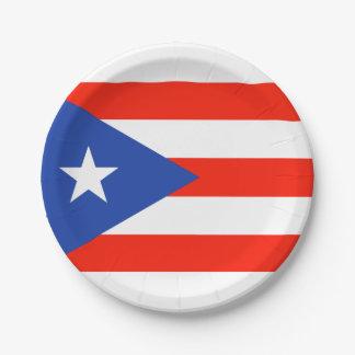 Het Puerto Ricaan Bandera 4Teresa van de Fiesta Papieren Bordje