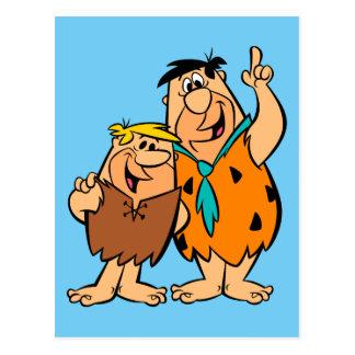 Het Puin en Fred Flintstone van Barney Briefkaart