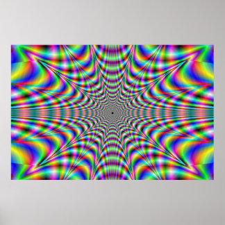 het pulseren - optische illusie poster