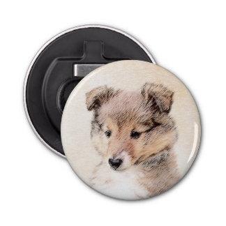 Het Puppy die van de Herdershond van Shetland het Button Flesopener