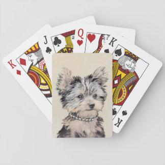 Het Puppy die van Yorkshire Terrier het Originele Speelkaarten