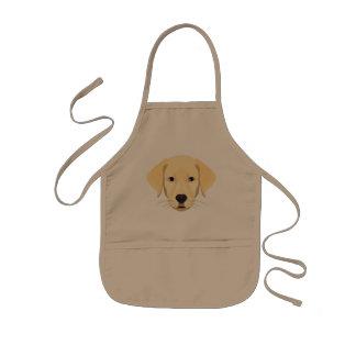 Het Puppy Gouden Retriver van de illustratie Kinder Schort