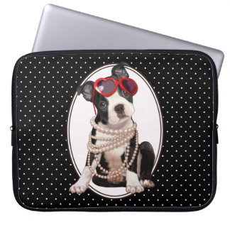 Het Puppy van Boston Terrier Laptop Sleeve