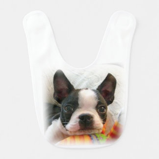 Het Puppy van Boston Terrier Slabbetje