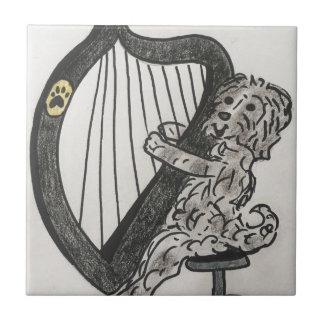 Het puppy van de harp tegeltje