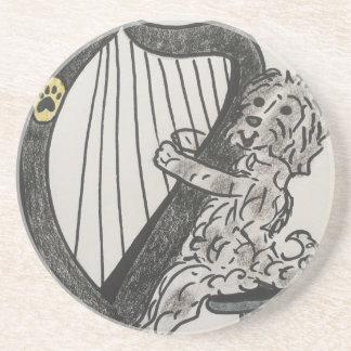 Het puppy van de harp zandsteen onderzetter