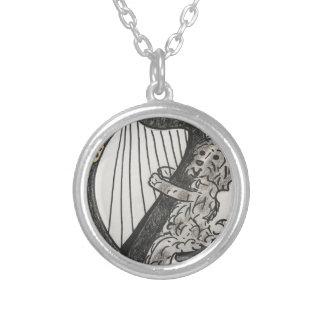Het puppy van de harp zilver vergulden ketting