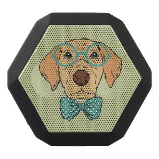 Het Puppy van de heer met een Leuke Bowtie. Zwarte Bluetooth Speaker