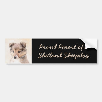 Het Puppy van de Herdershond van Shetland Bumpersticker