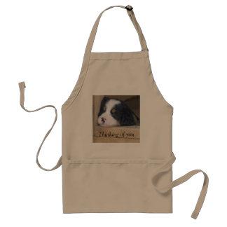 Het Puppy van de Hond van de Berg van Bernese - he Standaard Schort