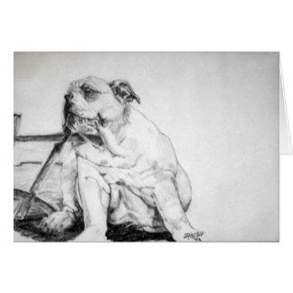 Het Puppy van de Hond van de stier Wenskaart