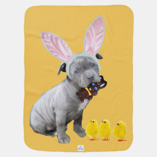 Het puppy van Pasen pitbull Inbakerdoek