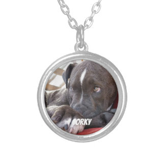 Het Puppy van Pitbull van het Baby van Editable Zilver Vergulden Ketting