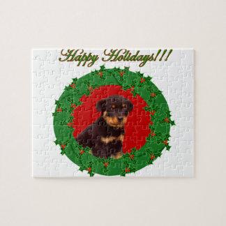 Het puppy van Rottweiler van het vakantie Puzzel