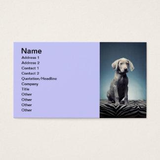 Het puppy van Weimaraner Visitekaartjes