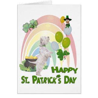 Het Puppy van Westie - het Iers of niet, u is EEN Briefkaarten 0