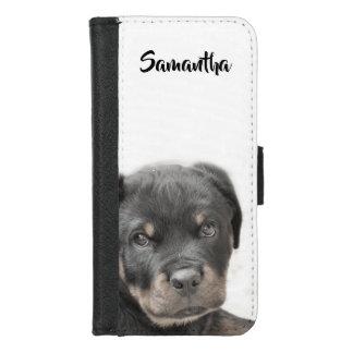 Het puppyiPhone van Rottweiler 7/8 iPhone 8/7 Portemonnee Hoesje