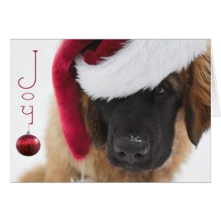 Het puppyKerstmis van Leonberger Briefkaarten 0