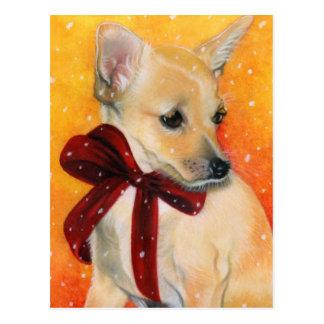 Het puppysneeuw van Kerstmis Briefkaart