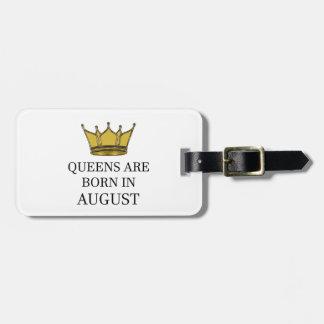 Het Queens is Geboren in Augustus Bagagelabel
