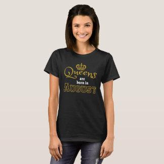 Het Queens is Geboren in Augustus, de Verjaardag T Shirt