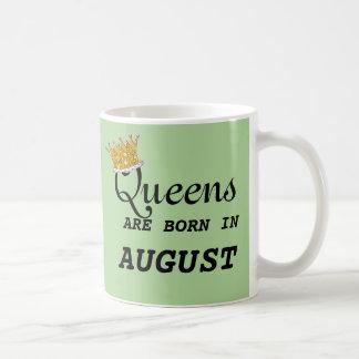 Het Queens is Geboren in Augustus PERSONALISEERT Koffiemok