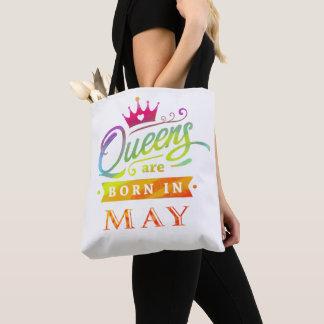 Het Queens is geboren in de Gift van de Verjaardag Draagtas