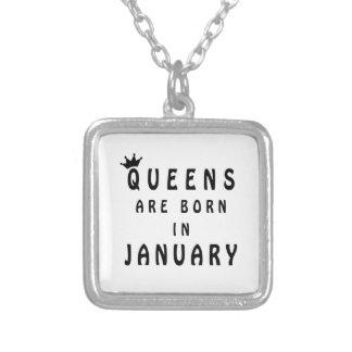 Het Queens is Geboren in Januari Zilver Vergulden Ketting