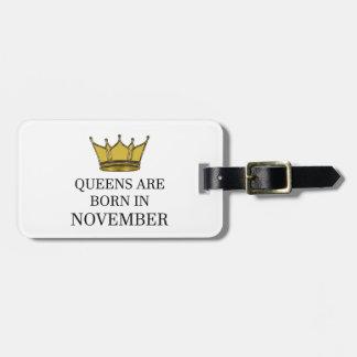 Het Queens is Geboren in November Bagagelabel