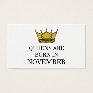 Het Queens is Geboren in November Visitekaartjes