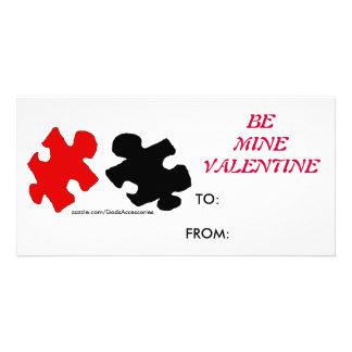Het raadsel is de Kaart van Valentijn van de Mijn Gepersonaliseerde Fotokaarten