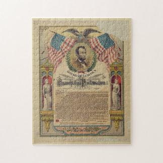 Het Raadsel van Abraham Lincoln van het Adres van  Puzzel